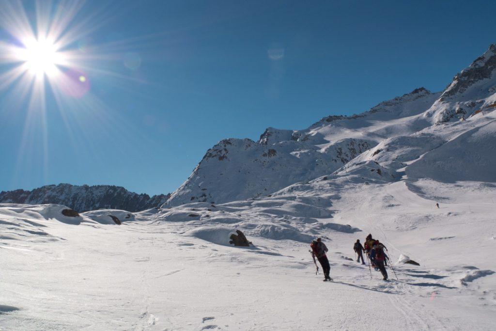Ciaspole e sole   panoramio 1024x683 - Wandern mit Schneeschuhen